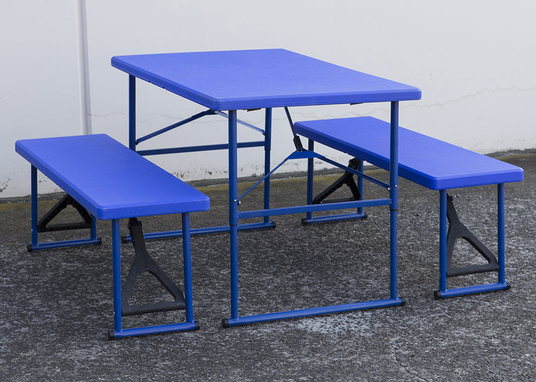 Folding Beer Table W Bench Outdoor Picnic Table Chair Set