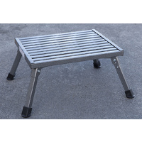 Step Stool Working Platform Foot Stool Steel Folding