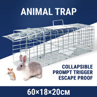 Medium Humane Animal Cage Trap Live Catch Possum Rabbit Cat Rat Fox Hare Bait