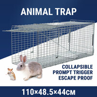 XXL Large Humane Animal Cage Trap Live Catch Possum Rabbit Cat Rat Fox Koala