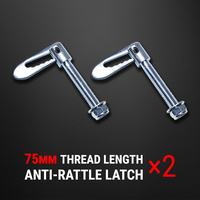 2 pcs Anti Rattle Latch Gravity Luce Bolt On Fastener Trailer Tailgate UTE