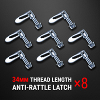8 pcs Anti Rattle Latch Gravity Luce Bolt On Fastener Trailer Tailgate UTE 34mm