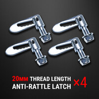 4 pcs Anti Rattle Latch Gravity Luce Bolt On Fastener Trailer Tailgate UTE 20mm