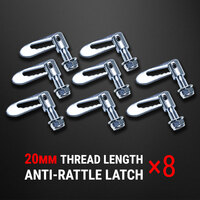8 pcs Anti Rattle Latch Gravity Luce Bolt On Fastener Trailer Tailgate UTE 20mm