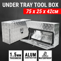 Under Tray Aluminium Tool Box Pair Set Ute Toolbox Truck Undertray Underbody