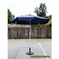 2.5m Garden Umbrella, Aluminium Pole, 8 ribs, Zinc-Alloy Crank Windup System