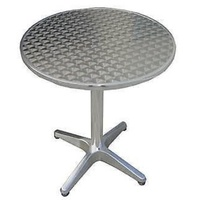 Cafe Outdoor Bistro Table Aluminium top cover and leg, round dia 80cm, new