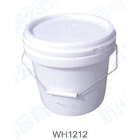 10 x Plastic Bucket 5L with Lid White Round Buckets, New