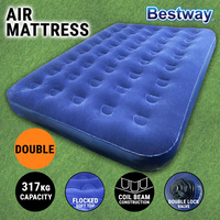 Bestway Double Flocked Air Bed Inflatable Mattress Sleeping Mat Camping Outdoor
