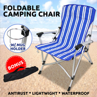 Aluminium Beach Chair Foldable Waterproof Outdoor Pool Camping Bench Fishing