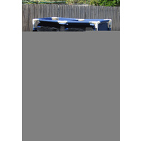 Camping Wardrobe 87x48x140cm, Aluminium Tube, with Mesh, Polyester,Navy Blue New