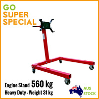560kg Engine Stand Heavy Duty Industrial Workshop Cars Auto Crane Hoist Motor