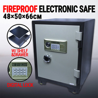 Fireproof Steel Digital Electronic Safe W/ Shelf & Drawer, Security Sentry Home Office