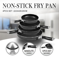 Fry Pan Non-Stick 4 Pcs Set handle Round, Cooking Pot Kitchenware, Home