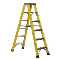 FIBREGLASS DOUBLE SIDED STEP LADDER 2.9m Ladders  FIBRE GLASS