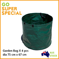 4 x Lawn Leaf Grass Garden Bag 272 L, Utility Bag Sack Bin, Yard Waste Bag