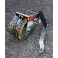Hand Winch Steel Cable 1400 lbs, Boat Trailer Gear Winch, Weather Resistant