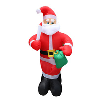 Santa Inflatable Christmas Decoration Airblown, Built-in Fan XMAS Outdoor Yard