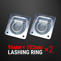 2 Pcs Lashing Ring Zinc Plated Recessed Tie Down Point Anchor Trailer UTE