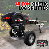 40 Ton Kinetic Log Splitter Flywheel Wood Cutter Briggs & Stratton Petrol Engine