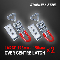 Stainless Steel Over Centre Latch 2 Pcs Trailer Overcentre Toggle Lock Fastener