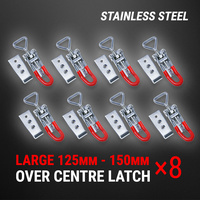Stainless Steel Over Centre Latch 8 Pcs Trailer Overcentre Toggle Lock Fastener