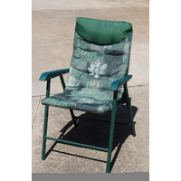 Outdoor Garden Chair, foldable, Waterproof padded seat, powder coated steel legs