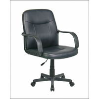 Office Chair PU Leather Padded w/ Adjustable Height, Executive Office Computer