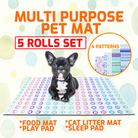 5x Cat Litter Trapper Catcher Multi Purpose Pet Mat Jumbo 4 Patterns Anti Slip