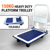 150kg Folding Platform Trolley Hand Truck Foldable Cart Heavy Duty Push Dolly