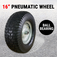 "16"" Pneumatic Wheel 6.5-8"" Tire Tyre Ball Bearing Wheelbarrow Cart Trolley Truck"