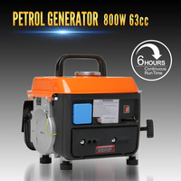 Petrol Generator, 2 Stroke 2HP Engine, 63cc Power AC DC Outlets Portable Camping