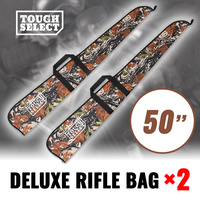 2 x Deluxe Rifle Bag, Gun Bag, Fabric Cover, Foam Padded Shot Gun Shotgun Case