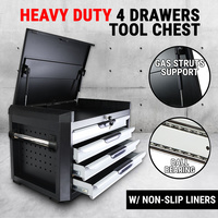 4 Drawers Tool Box Chest Mechanic Cabinet Toolbox Trolley Storage Organiser Set