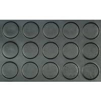 Rubber Mat Sheet,  Low Round Dot, 3.5mm x 1.2m (W) x 4m (L), Floor Matting