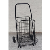 Collapsible Shopping Trolley Steel Basket Folding Shopping Trolley Cart