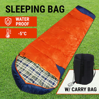 Camping Sleeping Bag Tent Hiking W/ Carry Bag Thermal Winter Single Outdoor