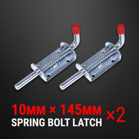 2× Spring Bolt Latch Catch Zinc Plate Trailer Track Float Railing Tail Gate UTE