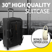 "30"" Brand New Suitcase Travel Luggage with Zipper Lock Black Colour"
