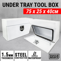 Underbody Under Tray Steel Tool Box Pair UTE Heavy Duty Truck Toolbox Undertray