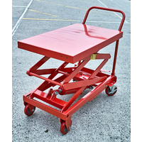 150kg Hydraulic Scissor Lift, High Lift 1.25m, Table Cart, Power Lift Table