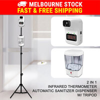 Infrared Thermometer & Auto Hand Wash Dispenser Machine & Tripod Stand Set