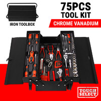 75PCS Tool Kit Set Case Mechanics Box Toolbox Portable Hand DIY Craft Hobby