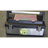 "22"" Tool Box, with Stainless Steel cover, Aluminium Handle, plastic organiser"