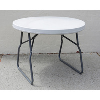 Folding Trestle Table Round Dia 94cm Portable Blow Moulded Table