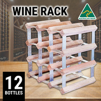 12 Bottles Wine Racks Wooden Storage Organiser Cellar Holder Kitchen Bar Display