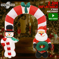 Inflatable Christmas Archway Santa Snowman 2.2M Xmas Decor LED Light Outdoor