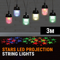 LED Stars String Lights Projection Chain Christmas Decoration Outdoor Party