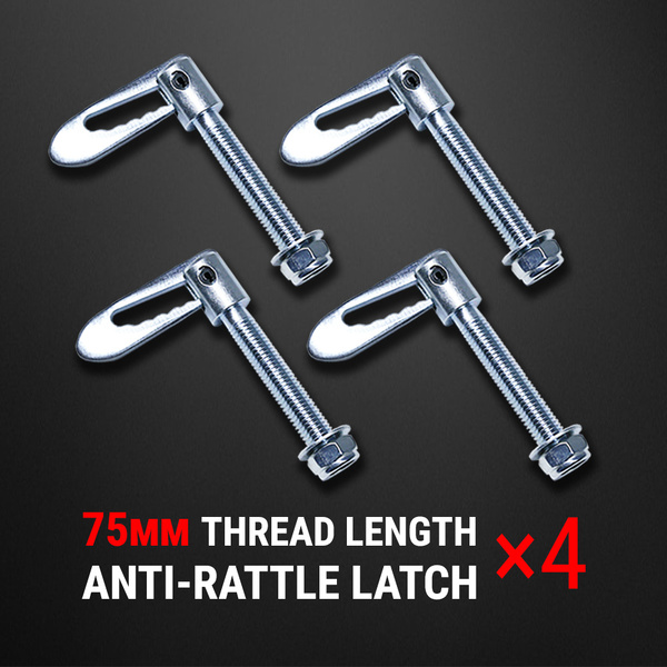 4 pcs Anti Rattle Latch Gravity Luce Bolt On Fastener Trailer Tailgate UTE