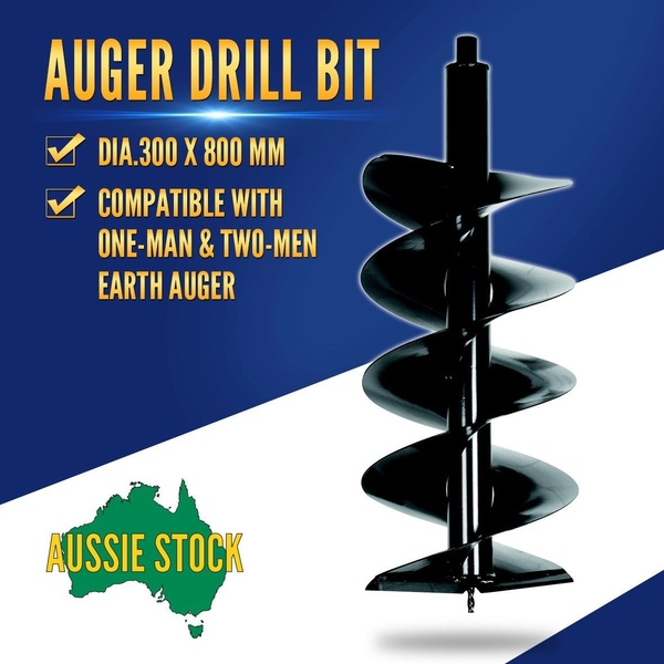 Earth Auger Drill Bit 300x800mm Post Hole Borer Ground Drilling